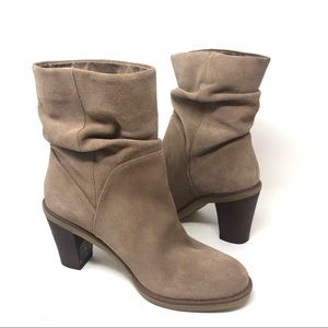 Vince Camuto VC Parka Suede Leather Mid Boots 7.5M